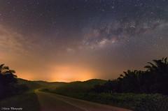 The Dream Begin (Marcus Lim @ WK) Tags: milkyway night star starry road nikon wide tokina landscape mountain tree grass sky