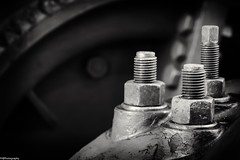 bolts and nuts (fhenkemeyer) Tags: 105mm macro niksilverefexpro2 canoneos70d hmm fastener dortmund maschinenhalle zechezollern macromonday nuts bolts
