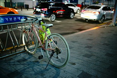2327/1809 (june1777) Tags: snap street seoul gangnam seolleung station night light bicycle dof bokeh sony a7ii canon ef 35mm f14 2000 clear