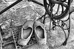 These old shoes. (Ian Ramsay Photographics) Tags: wollombi newsouthwales australia person shoes pedalled sewing machine silent unworn hour day