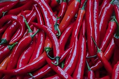 Red Hot Chili Peppers (talktomsi) Tags: red hot chili pepper food macro closeup green spice canon colour color catchy vegetable