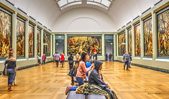 back rub (albyn.davis) Tags: museum louvre rubens couple paris france europe travel perspective symmetry colors bright vivid vibrant walls art paintings