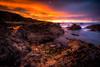 Pool of Light (Augmented Reality Images (Getty Contributor)) Tags: portknockie longexposure coastline landscape sunset seascape scotland water waves leefilters morayfirth canon colours clouds rocks unitedkingdom gb