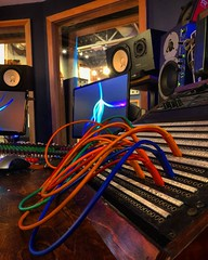A Cascade of Colour (Pennan_Brae) Tags: soundengineering soundengineer musicproducer musicproduction studiotime studiolife musicphotography cables colourful patchbay recordingsession recording recordingstudio musicstudio