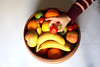 Sneaking a cherry tomato 🍅 from the fruit 🍌 bowl 🍲!! (TwoPenceMedia) Tags: yummy nectarine irish foodie food reach lime orange fyffes apple banana white hand bowl fruit