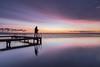 Get out of my way!! (karindebruin) Tags: thenetherlands nederland zuidholland goereeoverflakkee ouddorp steiger jetty grevelingenmeer sunrise zonsopkomt colors kleuren