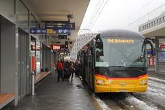 Chur - Station RhB Arosabahn (Kecko) Tags: 2018 kecko swiss switzerland schweiz suisse svizzera graubünden graubuenden gr chur railway railroad bahn eisenbahn bahnhof station gare rhb europe rhätischebahn viafierretica rhaetianrailway arosabahn bahnersatz bus postauto swissphoto geotagged geo:lat=46853250 geo:lon=9529350
