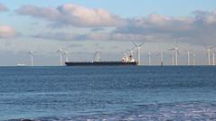 Leaving the Tees, past Redcar wind farm (martin97uk) Tags: seaton carew hartlepool tees county durham england uk sea