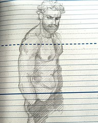 Diary Doodle (talien73) Tags: drawing pencil doodle sketch scizza man male body figure study