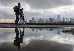 Us & Them (Clayton Perry Photoworks) Tags: vancouver bc canada winter explorebc explorecanada stanleypark seawall skyline people reflections