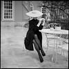 Woman sitting (Radoslaw Pujan) Tags: portugal sintra elegance elegant film argentique analog rolleiflex sl66 bw 6x6 sitting hat gloves vogue palace luxury classy ilford hp5