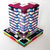 Pastel Heights - Front (cazphoto.co.uk) Tags: lego micropolis microscale moc myowncreation feb18 14block panasonic lumix dmcgx8 panasonic45mmf28leicadgmacroelmaritasph pastelheights residentialzone