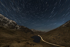 Rest and be Thankful (chrismarr82) Tags: nikon scotland star trails road light a82