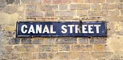 Canal Street (R~P~M) Tags: sign name road city jericho oxford oxon oxfordshire england uk unitedkingdom greatbritain enamel vitreousenamel blue street