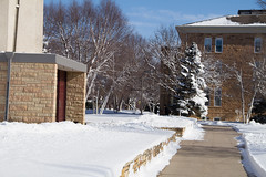 2017 New Student Move In Day-86.jpg (Gustavus Adolphus College) Tags: campus winter christ chapel old main pc anna brown photography blue sky snow trees campusinwinter christchapel oldmain pcannabrown winterphotography bluesky