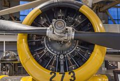 2017-09-12_13-26-43 Harvard (canavart) Tags: hangarmuseum hangarflightmuseum canada alberta calgary aircraft museum airmuseum harvard northamerican trainer yellow rcaf royalcanadianairforce