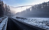 Heavenly Roads (Eifeltopia) Tags: brücke bridge autobahn highway road frosty eisig winter fog landscape architecture nebel trier trees sky himmel blue white icy cold wintry raureif rime meadow wiese rheinlandpfalz germany balkenbrücke biewerbachtal brancoconsdorf
