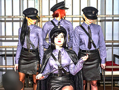 (vujo1017) Tags: mistress prison tie blouse shirt uniform babe girl girls woman women frau domina dominant dominatrix uniforma kravate cap femdom dream leather leder cuir cuero pelle fetish fetisch damen herrin lady blue guard goddes teacher
