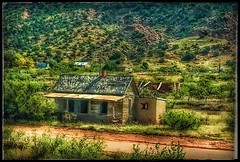 Red dirt road... (Sherrianne100) Tags: oldhome rural dilapidated route66 cuervonewmexico newmexico