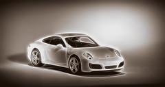 Tiny911 (JBK-Photos) Tags: macromondays macro 911 porsche monochrome sepia car carrera auto