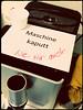 Wien (Harald Reichmann) Tags: wien davidgasse sozialraum kaffee kaffeemaschine defekt kaputt info text humor leid burnout erschöpfung