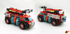 Febrovery 2018 17 (TFDesigns!) Tags: lego space fire steelcitylug steel city lug truck rover febrovery frost