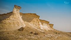 Zekreet 1 (Mohamed Rimzan) Tags: doha zekreet desert canon landscape qatarliving rock mountain hot sunny blue bright wideangle beautiful