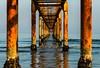 adriatic perspectives (lucafabbricesena) Tags: adriatic sea perspective pier water cesenatico emiliaromagna italy sunset beach sky horizon light blue wood pole nikon d800