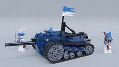 """Serpent"" steam tank destroyer (Sunder_59) Tags: lego moc render blender3d mecabricks tank steampunk steam military vehicle transport"