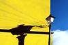 Laverò domani (meghimeg) Tags: 2018 genova muro wall corde lampione lamp giallo yellow ombra sole shadow sun cielo sky nuvola cloud