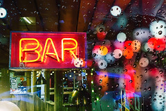 Bar Window Bokeh Reflections (Bluebelle Photography) Tags: reflection samsung galaxy s7 phonography photography cell mobile street bokeh window