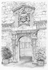 King's Manor, York: The Earl of Strafford's doorway