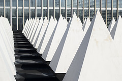 abstract roof at Crystal Palace sports complex (Amanda Lane 2020) Tags: white cones roof abstract pattern architectural crystalpalace london rooftop crystalpalacenationalsportscentre