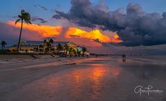 Beachwalk (Thüncher Photography) Tags: sony a7r2 sonya7r2 ilce7rm2 zeissfe1635mmf4zaoss fx fullframe scenic landscape waterscape oceanscape sky clouds colors reflections sunset beach tropical ftmyersbeach floridagulfcoast gulfcoast southwestflorida florida gulfofmexico