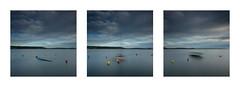 Fantômes (Mathieu Calvet) Tags: pentax k3 leefilter big stopper bigstopper nd1000 triptyque triptych carré square fineart poselongue longexposure da1224 boats bateau hérault languedocroussillon occitanie étang trépied tripod manfrotto