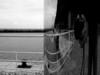 Curved room ... (Schnipselgalerie) Tags: olympus omd em10 mft 19mm sigma lissabon spiegel täuschung blackwhite bw monochrome hafen selfie street geländer gekrümmterraum