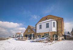 The Whitstable Oyster Fishery Co (Aliy) Tags: whitstable kent winter wintery wintry snow snowy oysterfishery restaurant royalnativeoysterstores building architecture