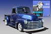 Blueberry Hill - 1952 Chevy Pickup (Brad Harding Photography) Tags: 1952 52 chevy chevrolet truck pickup utility antique restored restoration chrome olmaraisriverruncarshow ottawa kansas