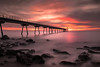 Pont del petroli sunrise #2 (bienve958) Tags: amanecer pontpetroli bdln sunrise bridge seascape landscape paisaje rocks rocas sea mar olas largaexposicion longexposure haida nd1000 nd30 densidadneutra filter colors beach playa