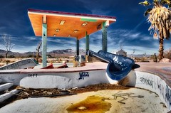 Abandoned Water Park (Jason DM) Tags: photooftheday sad closed abandoned desert mojave california waterpark rockahoola