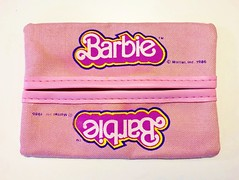 1986 Barbie Pocket Tissue Holder (The Barbie Room) Tags: 1980s 80s barbie mattel pocket tissue holder cover box pouch purse