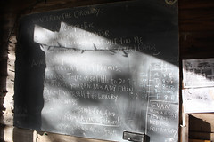 Home-Scale Permaculture Weekend (santacruzpermaculture) Tags: permaculture class learning chalkboard chalet winter orchard quote
