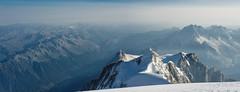 Chamonix Seen from Mont Blanc (deletio) Tags: 2017 landscape d700 chamonix ice mountains aisnikkor50mmf14 aiguilledumidi glacier snow white montblanc courmayeur valledaosta italy fr