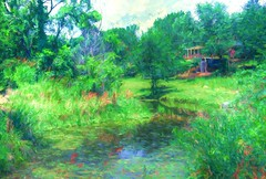 Impressions of Summer (billackerman1) Tags: greenscene monet impressionist photopainting photoart kodak ektachrome