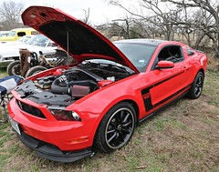 2012 Boss 302 (Bill Jacomet) Tags: hot rod riot 2018 schroeder hall goliad tx texas car show automobile auto 2012 12 boss 302 red