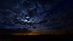 Blue moon sky (Dannis van der Heiden) Tags: bluemoon sky clouds night moon d750 tokina1628mmf28 zaamslag netherlands zeeland manualfocus sunset skyline landscape zeeuwsverblijf