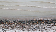 Icy Shoreline (peterkelly) Tags: grandbend southcottpines ontario canada greatlakes lakehuron digital northamerica water ripples winter ice shoreline shore stones pebbles canon 6d