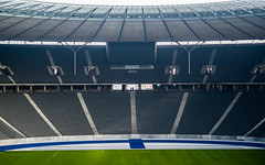 Watching you watching me! (jerryms) Tags: berlin olympic spectators tourists photographers view ground hertha olympus