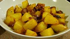 Fried potato sambol (Sandy Austin) Tags: sandyaustin panasoniclumixdmcfz70 westauckland auckland northisland newzealand food homecooking potato sambol