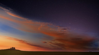 Mound Sunset and Stars